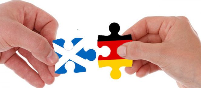 Scottish and German Flags Jigsaw